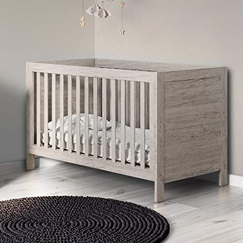 Ickle Bubba Grantham Cot Bed - Grey Oak