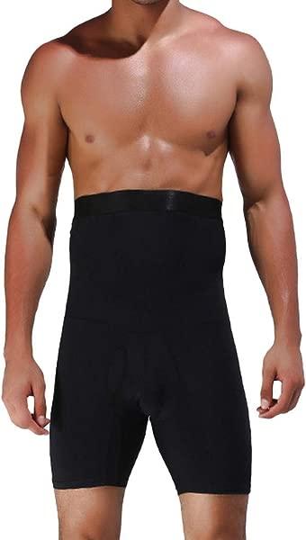 CapsA Men S Tummy Shaper High Waist Leg Control Shapewear Waist Slimming Shorts Brief Strong Shaping Underwear Short Slim Fit Pants Trousers
