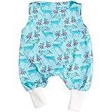 """Lilakind"""" Baby Strampler Einteiler Strampelanzug Baumwolle Jersey Blumen Rehe Blau Gr. 50/56 - Made in Germany"""