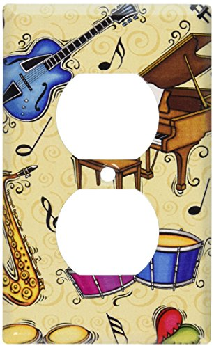 Art Plates - Musical Instruments Switch Plate - Outlet Cover