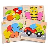 Aoliandatong Holzpuzzle, Steckpuzzle Holz Montessori Spielzeug fr Kinder ab...