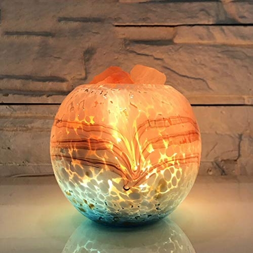 WLKDMJ Salzlampe Weihnachten kreative Kristall Salz Lampe Himalaya Meersalz Lampe Einfache Moderne Schlafzimmer Nachttischlampe dimmbare LED Tischlampe 100% authentische natürliche rosa Himalaya
