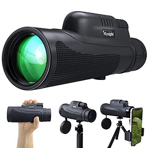 単眼鏡 望遠鏡 HD 12X50高倍率レンズ 12倍 広角 スマホ望遠レンズ 高解像度 スーパーズーム スマートフォン対応 99.8%高透過率 防水霧 耐衝撃 花火大会 撮影 野鳥観察 自然観察 野球観戦 運動会 コンサート 山登り 固定用三脚付き