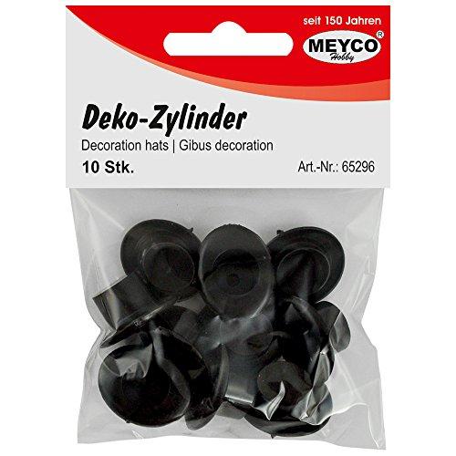 Deko-Zylinder -schwarz-2cm x 2,4cm - Inhalt: 10 Stück 65296