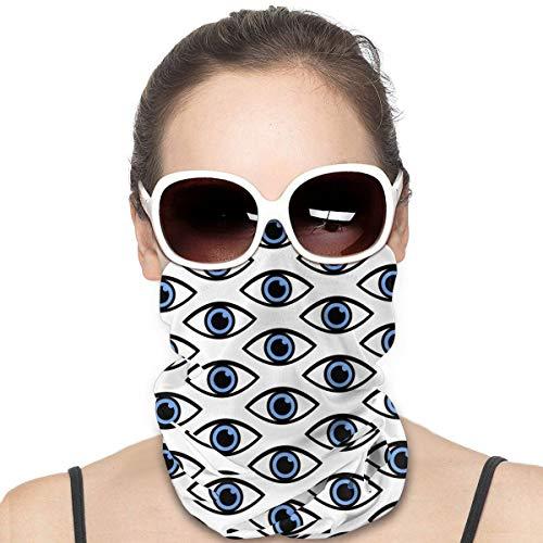 Hecho de ojo Patrón sin costuras Mascarilla de otoño Bandana - Polaina de cuello de pesca con protección solar UV - para hombres y mujeres
