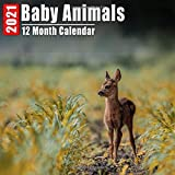 Mini Calendar 2021 Baby Animals: Cute Animal Babies Photos Monthly Small Calendar With Inspirational Quotes each Month
