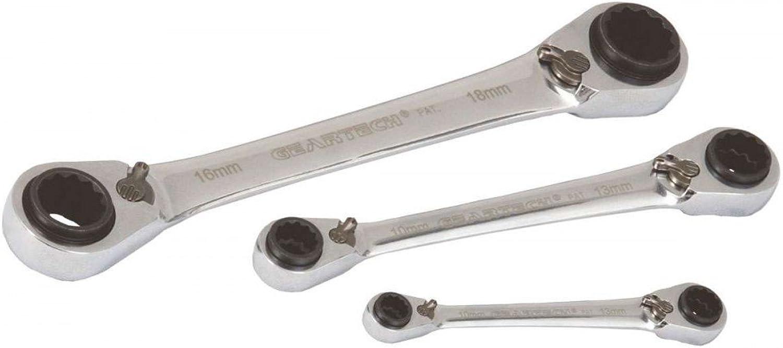 Projahn GearTech 4-in-1 Doppelring Schlüssel Satz 3-teilig, 8-10 8-10 8-10   12-13 und 9-11   14-15 und 16-17   18-19 3463 B007OIQZCS | Feinbearbeitung  2c53cf
