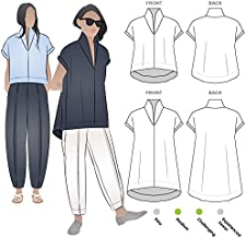 Style Arc Sewing Pattern - Teddy Designer Top (Sizes 04-16) - Click for Other Sizes Available