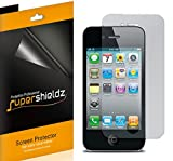 (6 Pack) Supershieldz for iPhone 4 and iPhone 4S Screen Protector High Definition Clear Shield (PET)