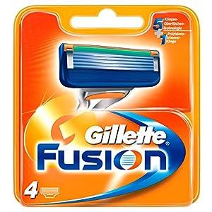 Gillette Fusion Recambio de Maquinilla de Afeitar para Hombre - 4 unidades