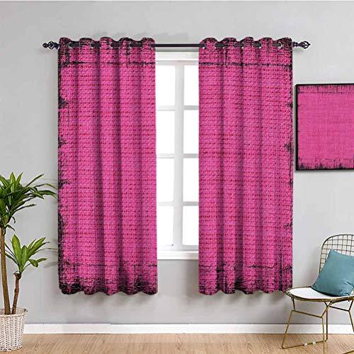 Magenta Decor Vorhang Paneele Futuristisches Design in Old Impressions Latex Grungy Murky Oberfläche Pastell Badezimmer Vorhang Fuchsia Pink B 274 x L 213 cm