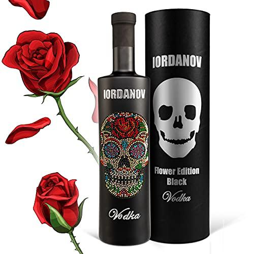 Iordanov Vodka | Edition: Black Flower-Luxus Wodka (0.7 l) - Der Edel-Vodka in der exklusiven Flasche! Für Genießer, Kenner, Experten
