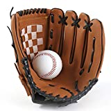 Yeshai3369 Baseball Gloves Left Hand 11.5 Inch Softball Baseball Infielder's Mitt Black