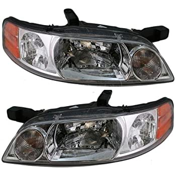 GEORGIE BOY VELOCITY 2003 2004 PAIR BLACK HEAD LIGHTS FRONT LAMPS HEADLIGHTS RV