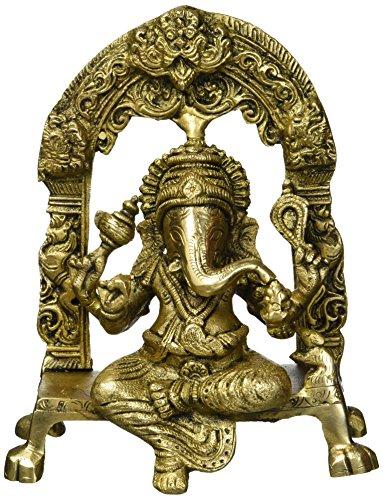Statue de Shalindia, doré, Size; 6.75 x 5.5 x 3 inches