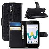 LZS Hülle für Wiko Sunny 3 Mini Leder Flip-Cover Handyhülle Brieftasche mit Kartensteckplatz & Stand Magnetverschlus Kompletter Schutz Wiko Sunny 3 Mini Handy Case
