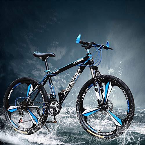 YXWJ 24/27 Velocidad Bicicleta de montaña Bicicletas 24,26 Pulgadas Mujeres de montaña for Adultos Conveniente for la Altura: 160-185cm ecológico Carretera Bicicleta usada for el Trabajo Escolar y