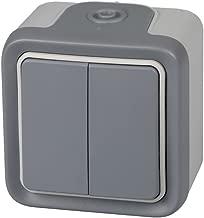 Legrand 191514Double Switch IP55Waterproof Outdoor Series Switch Plexo Grey