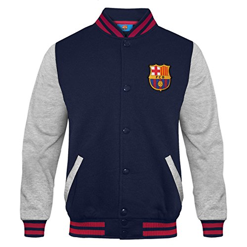 FCB FC Barcelona - Chaqueta Deportiva Oficial para niño - Estilo béisbol Americano - 6-7 años