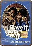 Burger King Have It Your Way Blechschild Retro Blech Metall