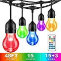 MaxVolador 48-Foot LED RGB String Lights