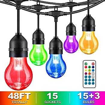 MaxVolador 48-Foot LED RGB String Lights