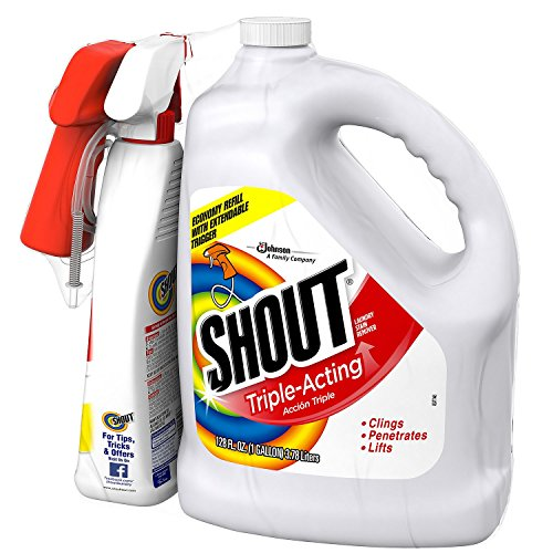 Shout Stain Remover with Extendable Trigger Hose 128 Oz  22 Oz 1