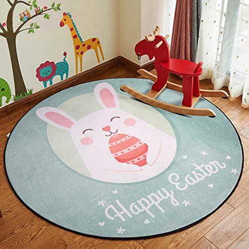 WZJ-CARPET Simple européen et américain style maison salon chambre chambre bébé jouer rampant tapis isolant anti-dérapant (Color : A, Taille : 60cm)