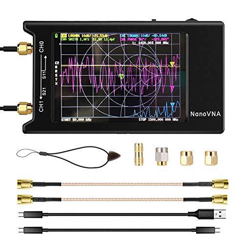 NanoVNA-H4 Analizador de redes vectoriales 10k-1.5GHz Pantalla táctil LCD de 4 pulgadas...