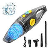 Portable Handheld Vacuum Cleaner, 2 Modes Car Vacuum 8Kpa Powerful Cyclonic Suction Wet & Dry...