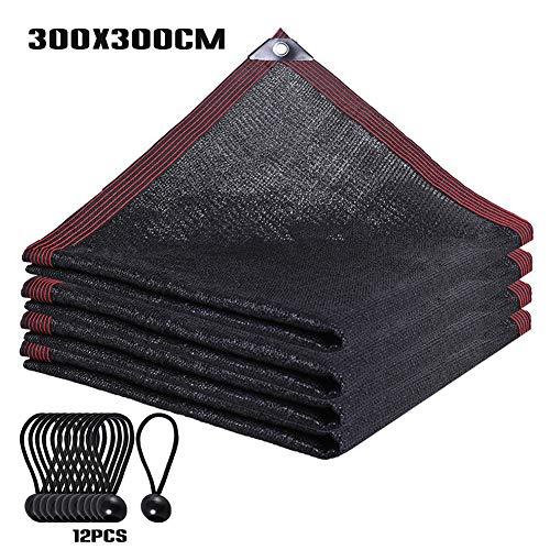 VKTY - Toldo de tela para sombrilla, impermeable, con ojales para pérgola y bolas elásticas (6,6 x 9,8 pies)
