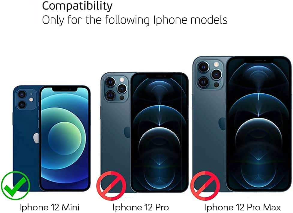 Deppa Premium Iphone 12 Mini Screen Protector Tempered glass 3D Full Coverage with Easy Installation Kit Tray - 2 Glasses Pack [ Video Installation Guide]