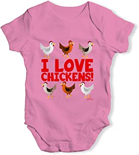Funny Baby Clothes I Love Chickens!