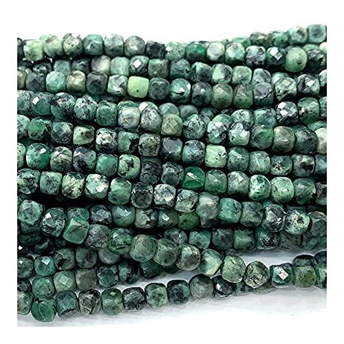 DFUF Hermoso Regalo Esmeralda Natural Bricolaje Collar Pulseras Pendientes Anillo Piedra Gemstones Faceturados Cubo Irregular Pequeñas Cuentas para la fabricación de Joyas