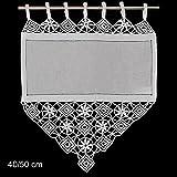 Hossner Fensterdeko Gardine 50x40 cm H/B | weiß | 100% Baumwolle