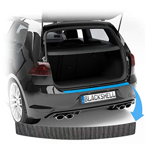 Blackshell® Ladekantenschutz Folie passend für Škoda Enyaq iV | Bj. ab 2020 Alu gebürstet Schwarz - passgenauer Ladekantenschutz inkl. Set für Folierung