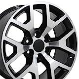 OE Wheels LLC 20 inch Rim Fits GMC Sierra Honeycomb Wheel CV92 20x9 Mach'd Wheel Hollander 5656