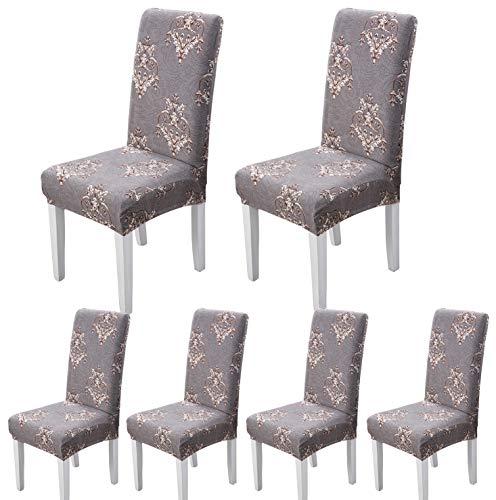 ARNTY Stuhlhussen 4er 6er Set,Stretch Stuhl Bezug Esszimmer,Universal Moderne Elastische Hussen für Stühle für Esszimmer Party Hotel Restaurant Deko (Modern, 6 Stück)
