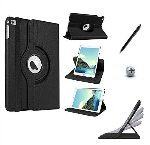Capa/Case Couro iPad Mini 4 Giratória 360°/Caneta Touch (Preto)