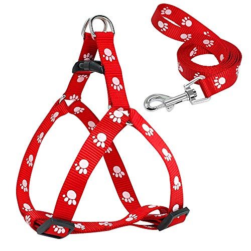 Chihuahua Yorkshire Trier · Schnauzer S Red small dog vest straps and drawstring soft nylon leash pet walk