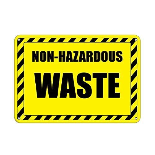 Tin Sign Warning Sign Non Hazardous Waste Hazardous Storage Area Signs Room Metal Poster Wall Decor