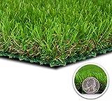 GOLDEN MOON Artificial Grass Turf Indoor/Outdoor Runner Rug 3.3 x 13 FT Realistic Deluxe Fake Grass Mat for Pet Dog Yard Patio Garden Balcony Apartment 42.9 sq ft