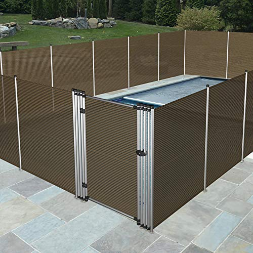 Windscreen4less Outdoor Safety Pool Privacy Fence for Inground Pools Freestanding Removable Security Fencing