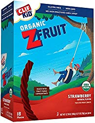 CLIF KID ZFRUIT - Organic Fruit Rope - Strawberry Flavor - (0.7 Ounce Rope, Lunch Box Snacks, 18 Cou