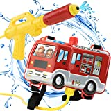 RF ROOM OF FASHION Firefighter 1300ML Water Shooter Gun and Blaster with Backpack Tank - Squirt Gun Backyard Pool Beach Toy and Outdoor Sports Toy