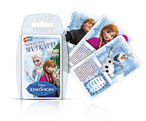 Winning Moves 61939 – Top Trumps Disney – Frozen, Qui est Le mutigste, Jeu de Cartes