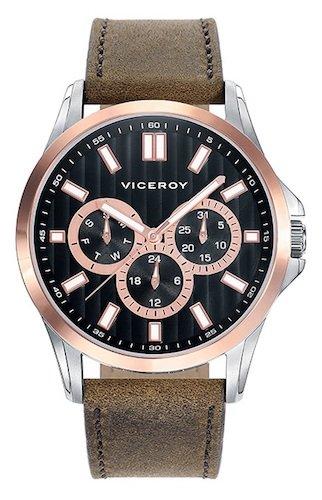 Viceroy Reloj Analogico para Hombre de Cuarzo con Correa en Cuero 42249-57