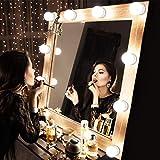 TechSmile Hollywood Style - Juego de luces LED con espejo de vanidad con bombillas regulables, tira...