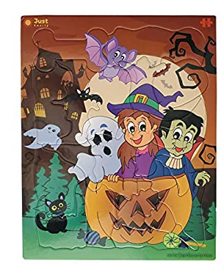 Just Smarty Jigsaw Puzzle Halloween 20 Pieces for Kids Ages 3, 4, 5, 6 Year Old with Fun Shapes and Tray. Fun Learning Educational Toy for Boys Girls in Pre-K, Kindergarten, First Grade