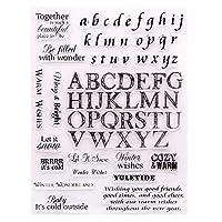 26大文字と小文字クリアシリコンスタンプとカッティングダイセットDIYスクラップブッキング/フォトアルバム装飾用